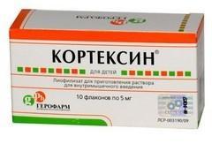 Кортексин, лиоф. д/р-ра для в/м введ. 5 мг №10 флаконы