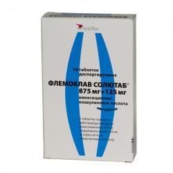 Флемоклав Солютаб, табл. дисперг. 875 мг+125 мг №14