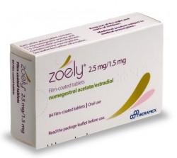 Зоэли, табл. п/о пленочной 2.5 мг+1.5 мг №84