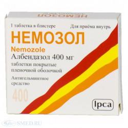 Немозол, табл. п/о пленочной 400 мг №1