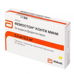 Фемостон мини, табл. п/о пленочной 2.5 мг+0.5 мг №28