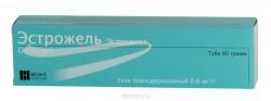 Эстрожель, гель трансдер. 0.6 мг/г 80 г №1 флакон с помпой-дозатором